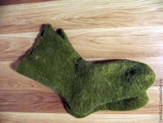 Носки мужские с собачьей шерстью удлинённые, купить носки с собачьей шерстью, носки ручной работы, подарок мужчине