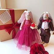 Куклы Тильда ручной работы. Ярмарка Мастеров - ручная работа Свадебные Зайцы, свадебный подарок, подарок на свадьбу, лучший подарок. Handmade.