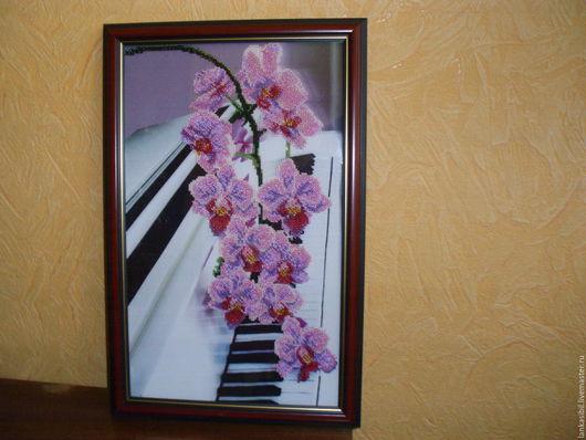 Картины цветов ручной работы. Ярмарка Мастеров - ручная работа. Купить Цветочная симфония. Handmade. Розовый, орхидея фаленопсис