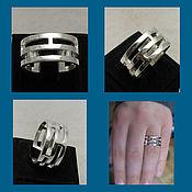 Украшения handmade. Livemaster - original item Rings triple. Ring Three in one. Fashionable ring.. Handmade.