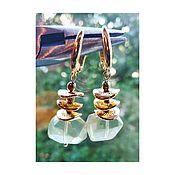 Украшения handmade. Livemaster - original item Earrings with transparent citrine. Handmade.