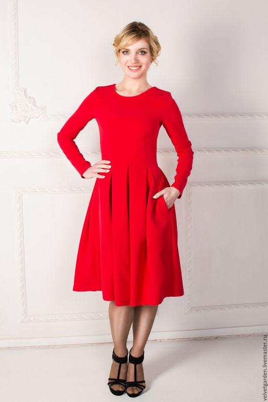 """Платья ручной работы. Ярмарка Мастеров - ручная работа. Купить Платье """"Леди """". Handmade. Ярко-красный, платье на заказ"""