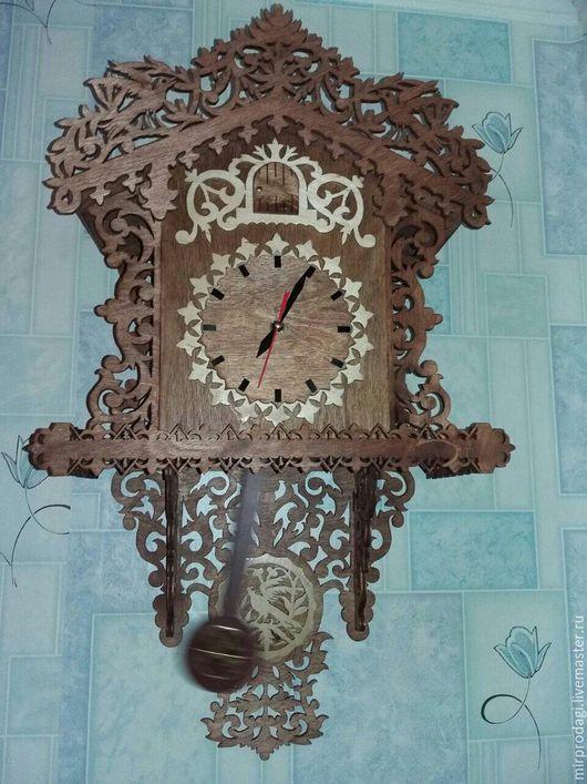 Часы для дома ручной работы. Ярмарка Мастеров - ручная работа. Купить настенные часы с маятником ручной работы. Handmade.