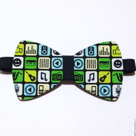 Галстуки, бабочки ручной работы. Ярмарка Мастеров - ручная работа. Купить Деревянная галстук-бабочка с рисунком на ремешке. Handmade. Комбинированный