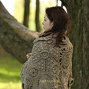 Аксессуары handmade. Livemaster - original item Beige Cape from motives of. Handmade.