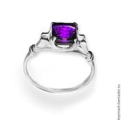 "Украшения handmade. Livemaster - original item Ring ""Miss"" amethyst, silver 925. Handmade."