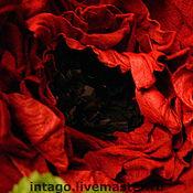 """Украшения ручной работы. Ярмарка Мастеров - ручная работа Брошь-цветок. """"Красный мак"""".. Handmade."""
