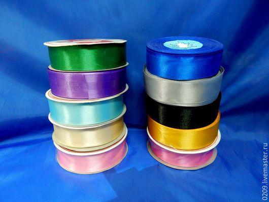 Шитье ручной работы. Ярмарка Мастеров - ручная работа. Купить ленты атласные 25мм. Handmade. Разноцветный, лента, лента декоративная