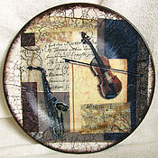 """Посуда ручной работы. Ярмарка Мастеров - ручная работа Тарелка """"Cимфония"""". Handmade."""