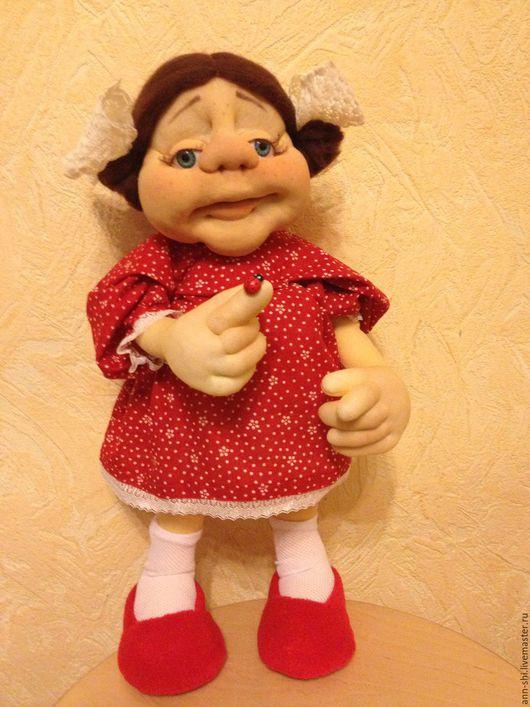Коллекционные куклы ручной работы. Ярмарка Мастеров - ручная работа. Купить Зося. Handmade. Ярко-красный, малышка, шерсть 100%