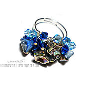 Украшения handmade. Livemaster - original item Ring Blue. Handmade.