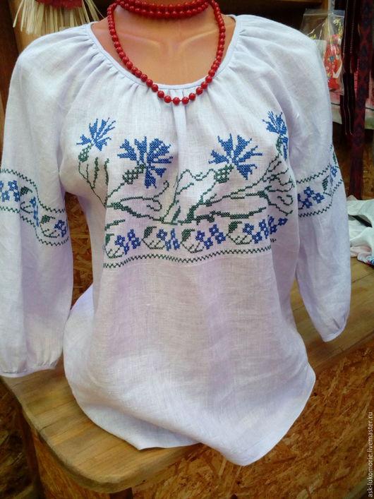 Одежда ручной работы. Ярмарка Мастеров - ручная работа. Купить блуза с вышивкой обережной. Handmade. Серый, этностиль