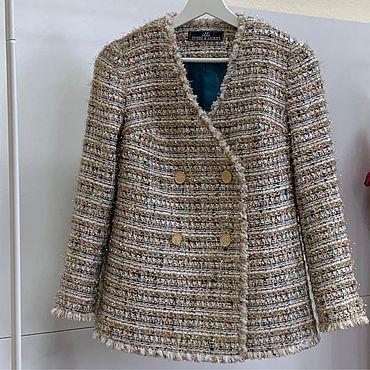 Одежда ручной работы. Ярмарка Мастеров - ручная работа Жакет ILLI Tweed&Jacket из твида. Handmade.