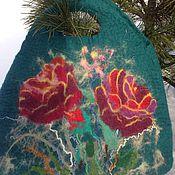 Сумки и аксессуары ручной работы. Ярмарка Мастеров - ручная работа Валяная сумка Изумрудные розы. Handmade.