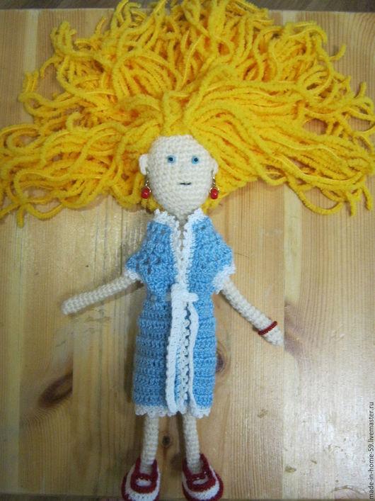 Человечки ручной работы. Ярмарка Мастеров - ручная работа. Купить кукла Злата (вязаная крючком). Handmade. Желтый, кукла для девочки
