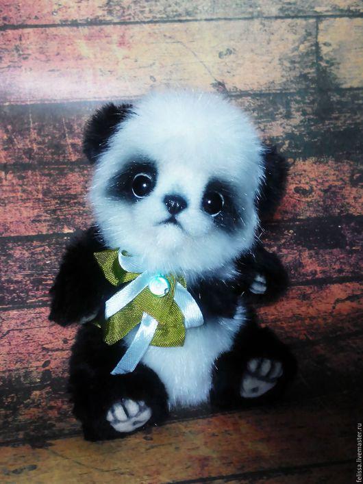 Мишки Тедди ручной работы. Ярмарка Мастеров - ручная работа. Купить Малыш панды. Handmade. Чёрно-белый, ручная работа