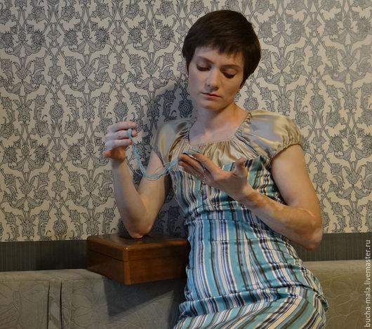 """Платья ручной работы. Ярмарка Мастеров - ручная работа. Купить Нарядное платье  """"Лилиана"""". Handmade. Тёмно-бирюзовый, family look"""