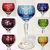 Винтаж handmade. Livemaster - original item Vintage: Set of Glasses crystal 14cm 8 pieces Nachtmann grapes. Handmade.