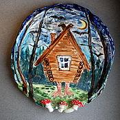 Посуда handmade. Livemaster - original item Plates: hut on chicken legs.. Handmade.