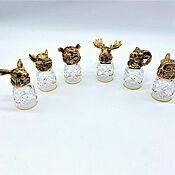 Посуда handmade. Livemaster - original item GLASSES: Gift set of glasses-shifters Forest animals. Handmade.