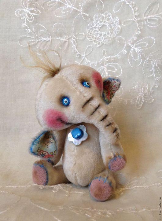 Мишки Тедди ручной работы. Ярмарка Мастеров - ручная работа. Купить Слоняша. Handmade. Белый, слоник тедди