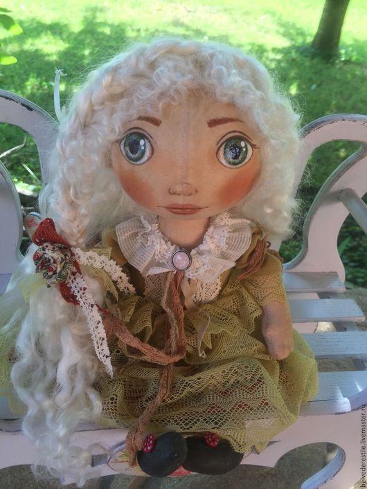 Куклы тыквоголовки ручной работы. Ярмарка Мастеров - ручная работа. Купить Беляночка малышка из Солнечного города. Handmade. тыквоголовка