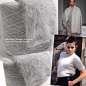 Материалы для творчества handmade. Livemaster - original item Yarn: Angora. Yarn down mink. Mink. Color grey melange.. Handmade.