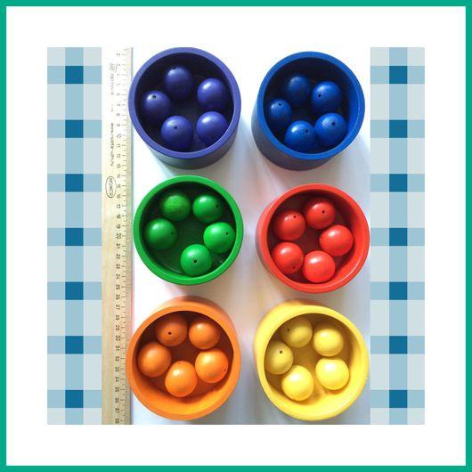 """Развивающие игрушки ручной работы. Ярмарка Мастеров - ручная работа. Купить Сортер """"разноцветные баночки"""" большой. Handmade. Сортер, бабочка, Монтессори"""