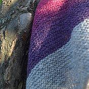 """Аксессуары ручной работы. Ярмарка Мастеров - ручная работа Шаль вязаная """"Закаты- рассветы"""" подарок ручной работы. Фиолетовый. Handmade."""