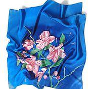 Аксессуары handmade. Livemaster - original item Batik Shawl Sakura. Handmade.