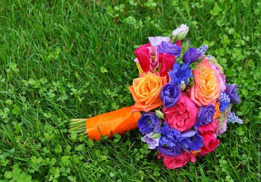 Букеты ручной работы. Ярмарка Мастеров - ручная работа. Купить Букет невесты из живых цветов Алиса. Handmade. Комбинированный