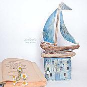 """Для дома и интерьера ручной работы. Ярмарка Мастеров - ручная работа Морская композиция """"Ветер странствий"""" driftwood. Handmade."""