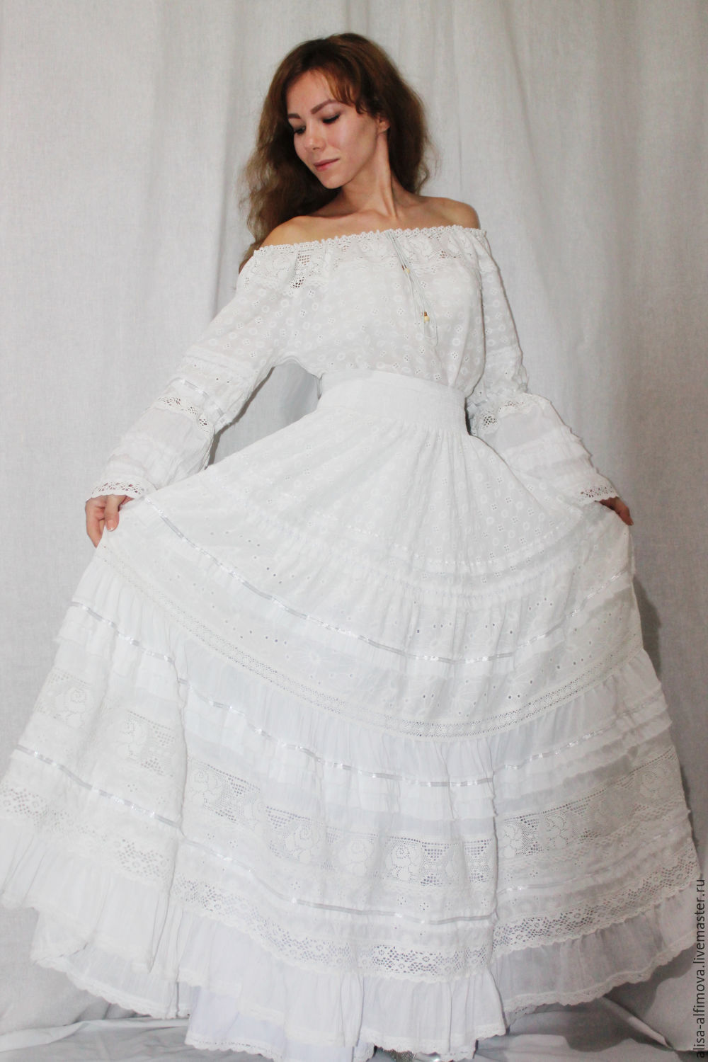 The costume is gorgeous 'White wedding'(blouse, skirt, petticoat), Dresses, Tashkent,  Фото №1