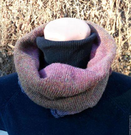 Шарфы и шарфики ручной работы. Ярмарка Мастеров - ручная работа. Купить Снуд из Кауни Морозные ягоды. Handmade. Комбинированный