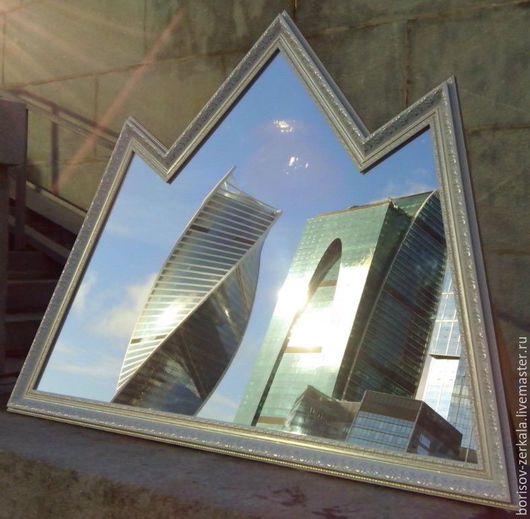 """Зеркала ручной работы. Ярмарка Мастеров - ручная работа. Купить Зеркало """"Вершины"""". Handmade. Белый, зеркало, зеркало настенное"""