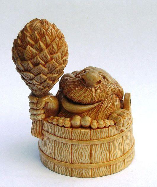 славянская мифология, славянский дух, банник, резьба по дереву, деревянная скульптура, авторская работа