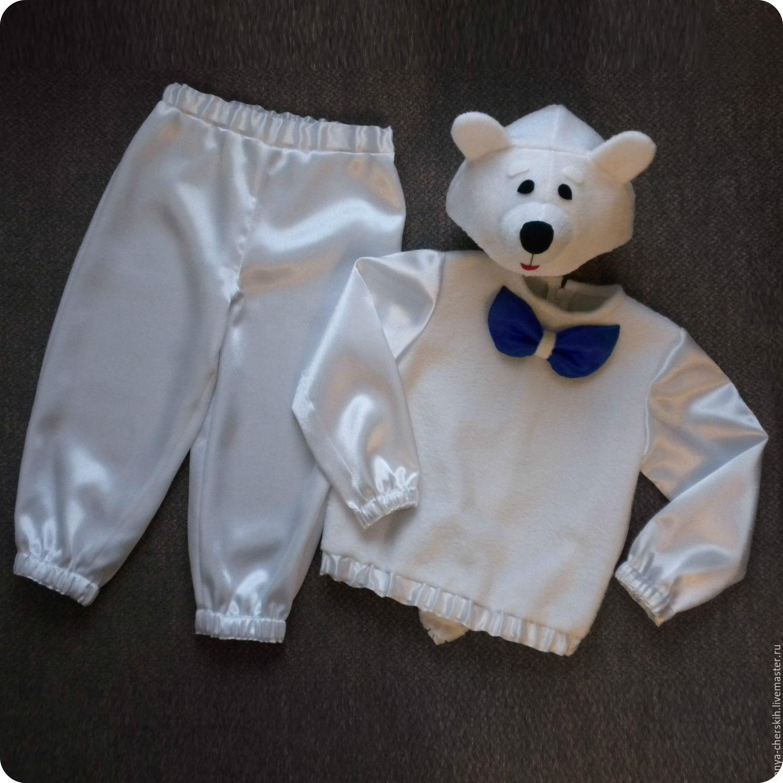 Детские карнавальные костюмы ручной работы. Ярмарка Мастеров - ручная  работа. Купить Медведь Белый костюм ... 74f1537c69b49