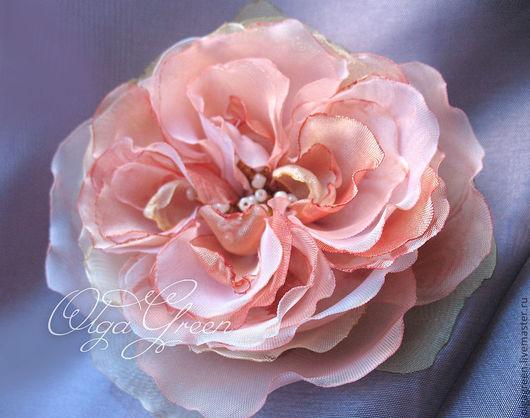 Броши ручной работы. Ярмарка Мастеров - ручная работа. Купить Брошь Отцветающая староанглийская роза. Handmade. Брошь, цветы из ткани