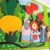 Куклы и игрушки ручной работы. Ярмарка Мастеров - ручная работа СКАЗКИ - развивающая книга-папка из ткани и фетра.. Handmade.