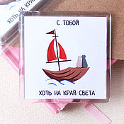 Сувениры и подарки handmade. Livemaster - original item Magnets for lovers. Handmade.