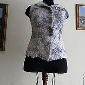 """Одежда ручной работы. Ярмарка Мастеров - ручная работа жилет """" Натуральная шкурка"""". Handmade."""