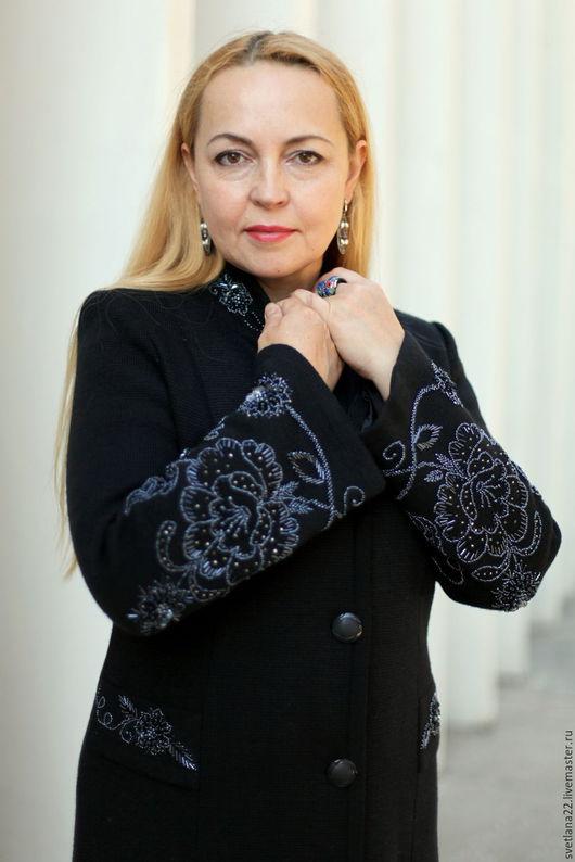 """Верхняя одежда ручной работы. Ярмарка Мастеров - ручная работа. Купить Шикарное пальто """"Модный винтаж с розами-3"""". Handmade."""