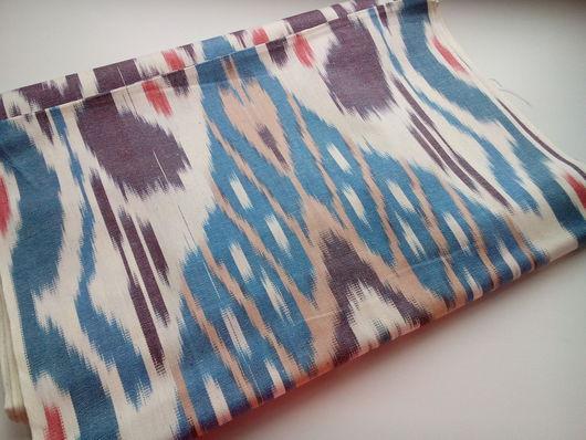 Шитье ручной работы. Ярмарка Мастеров - ручная работа. Купить Узбекский хлопковый икат ручного ткачества. Handmade. Икат, узбекистан