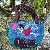 Сумки и аксессуары handmade. Livemaster - original item The DREAM felt handbag. Handmade.