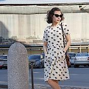 """Одежда ручной работы. Ярмарка Мастеров - ручная работа Платье с принтом """"Лоси"""". Handmade."""