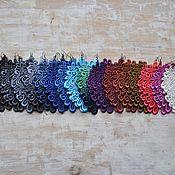 Украшения ручной работы. Ярмарка Мастеров - ручная работа Серьги из кружева ручной покраски. Handmade.