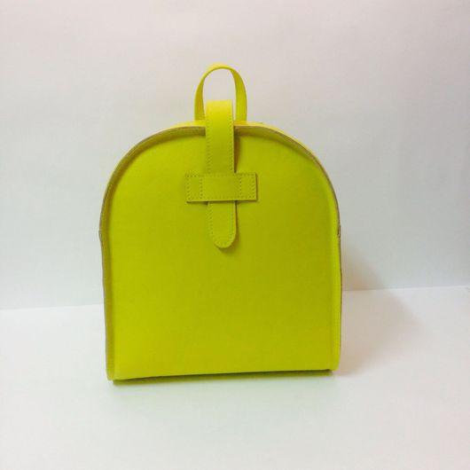 """Рюкзаки ручной работы. Ярмарка Мастеров - ручная работа. Купить Рюкзак из натуральной кожи """"Лимончик"""". Handmade. Кожа, желтый"""
