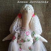 Куклы и игрушки ручной работы. Ярмарка Мастеров - ручная работа Розовый ангел,  тильда - хранительница ватных дисков.. Handmade.