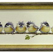 """Картины и панно ручной работы. Ярмарка Мастеров - ручная работа """"Нахохлились"""". Handmade."""