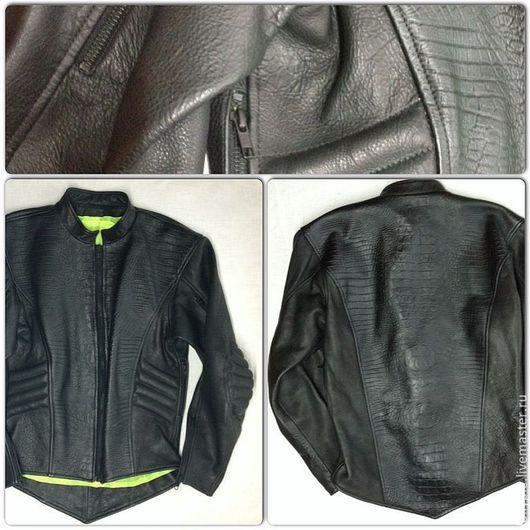 Верхняя одежда ручной работы. Ярмарка Мастеров - ручная работа. Купить Куртка BB08. Handmade. Черный, кожаная, мотокуртка, мотоэкипировка